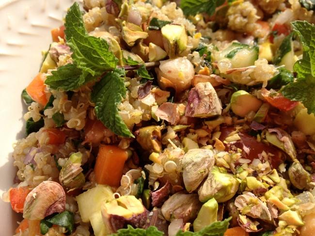 Moroccan Quinoa Confetti Salad | foodie yoga girl